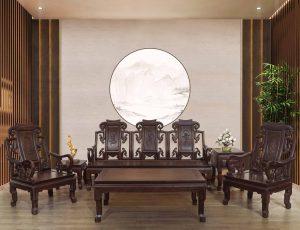 Salon-sofa gỗ phòng khách